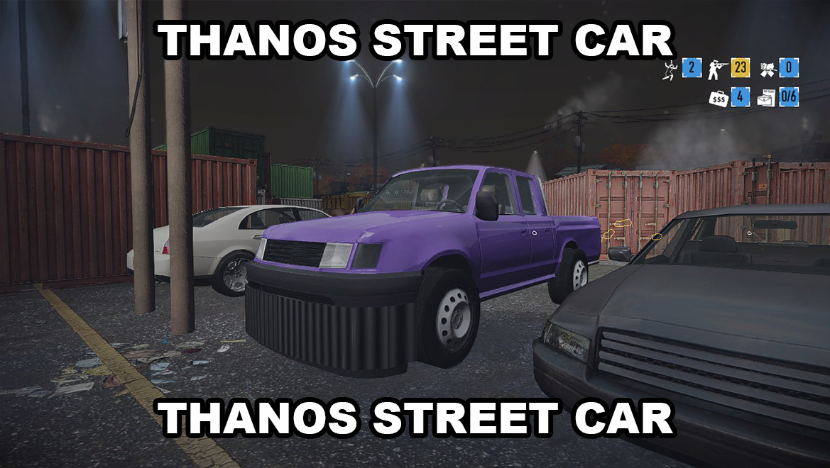 THANOS CAR replaces Pickup Truck - Mods