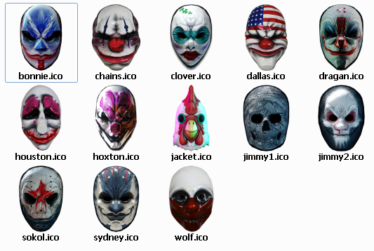 Payday 2 Desktop Icons - Mods