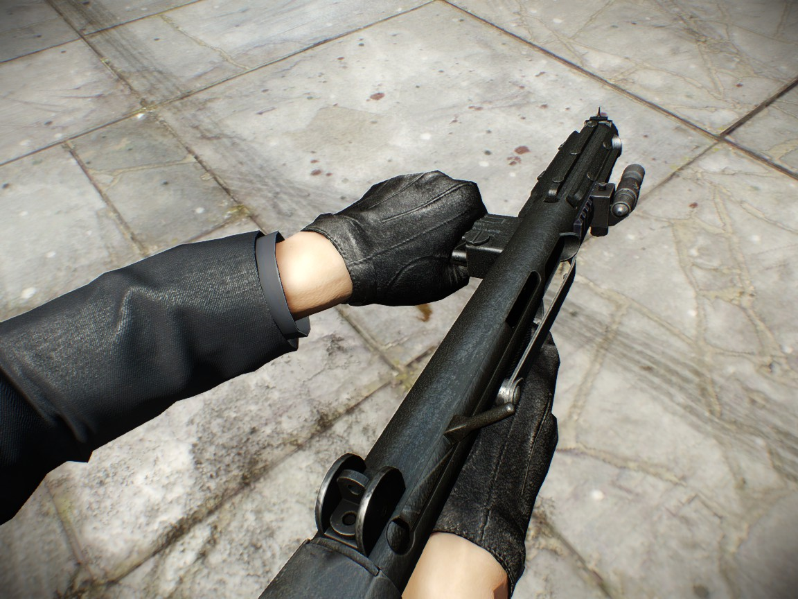 Authentic Silent Assassin Leather Gloves